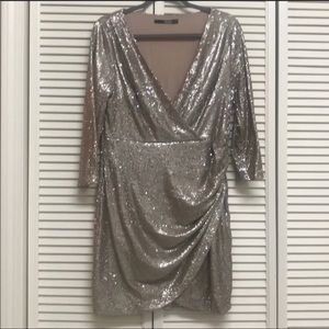Lulus Gold Sequins Dress